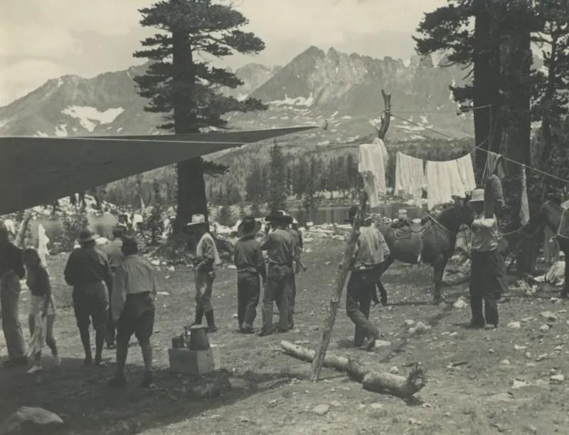 camp-site-1927-Sierra-club