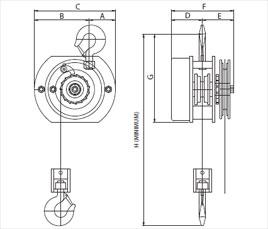 Stainless Steel Hook Suspension Chain Hoist :: Sparkproof