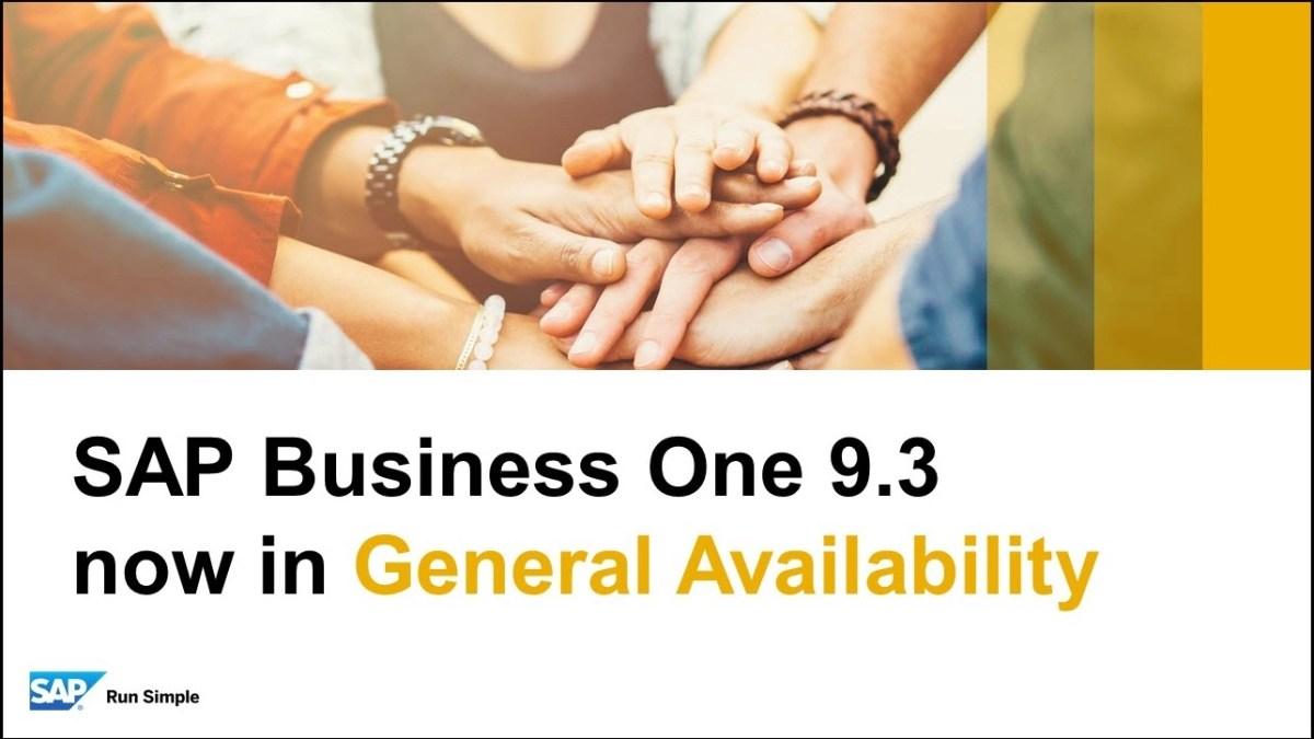 SAP General Availability