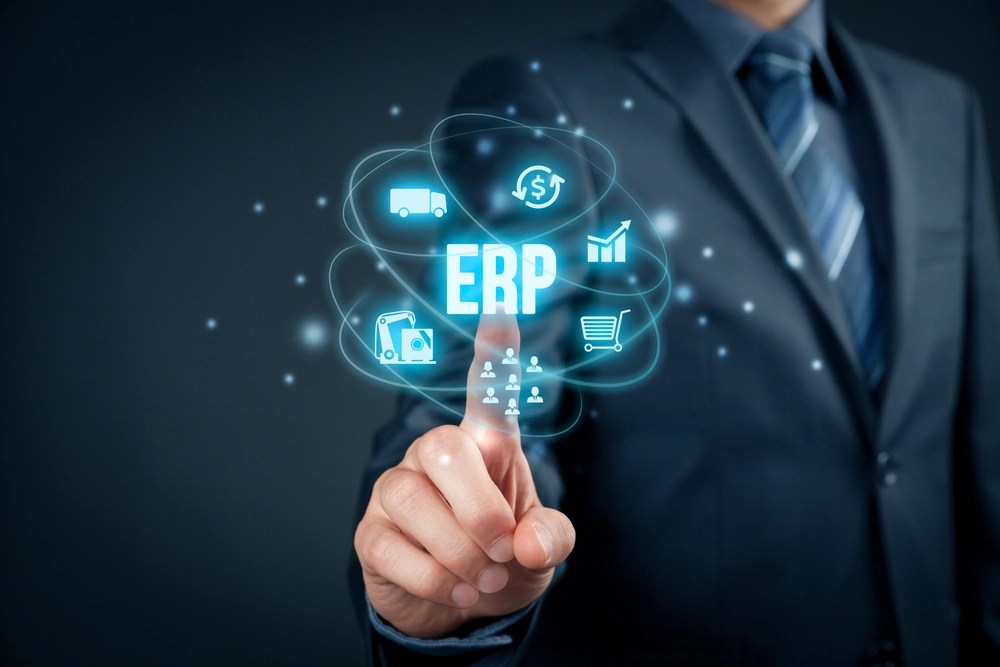 hand pointing on ERP concept
