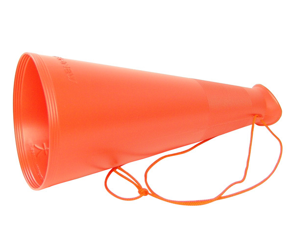 プラスチックメガホンLオレンジEKB001O