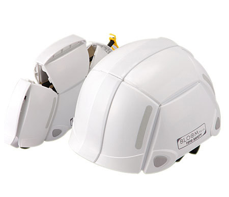 折りたたみヘルメットブルームBLOOM ホワイト