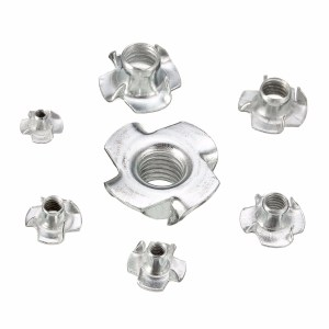 Zinc Plated 4-Prong T-Nuts Assortment