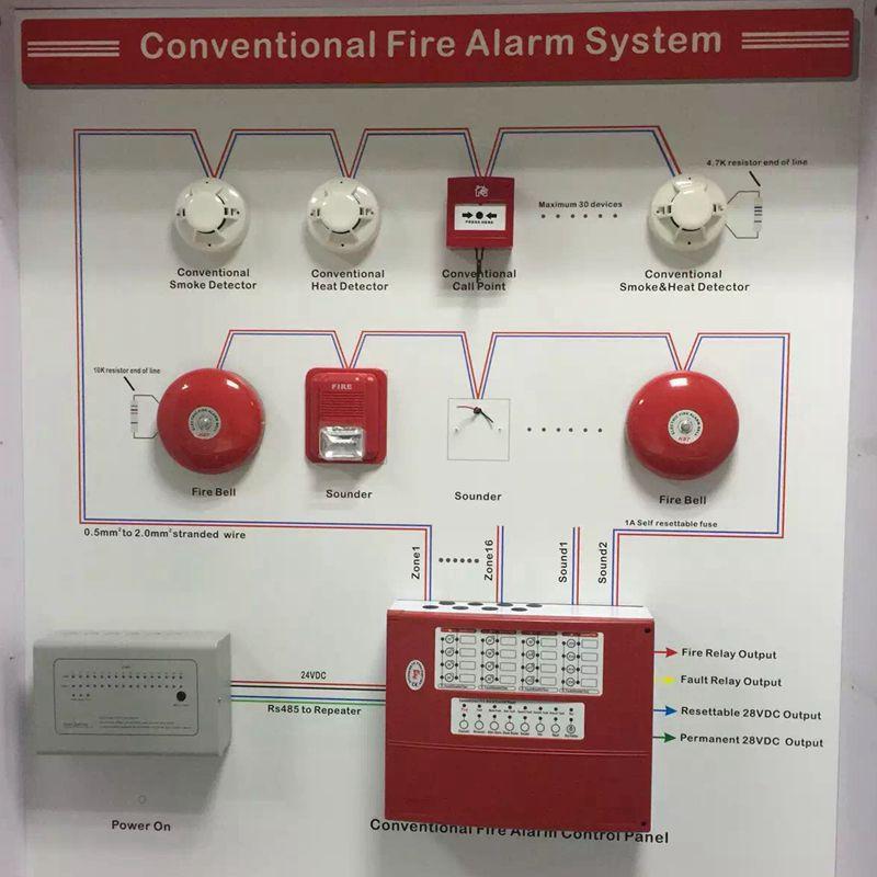 addressable fire alarm system wiring diagram