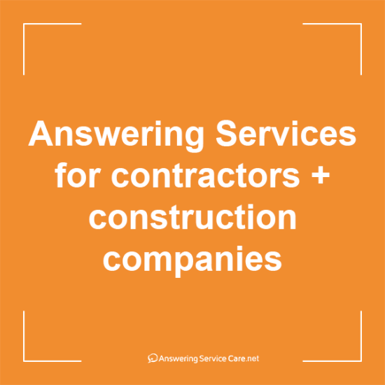 Contractors Answering Services