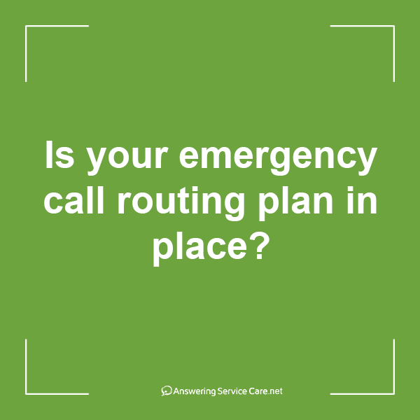Is your emergency call routing plan in place?