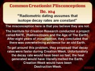 Creationist Misconceptions No. 104 - Project RATE