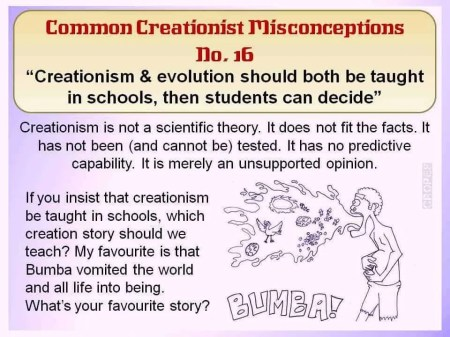Creationist Misconceptions No. 16 - Bumba