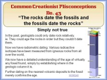 Fossils date the rocks