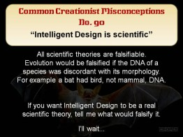 Creationist Misconceptions No. 90 - Intelligent Design is science
