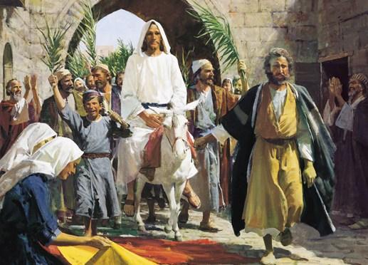 Bildergebnis für jesus riding on a donkey images