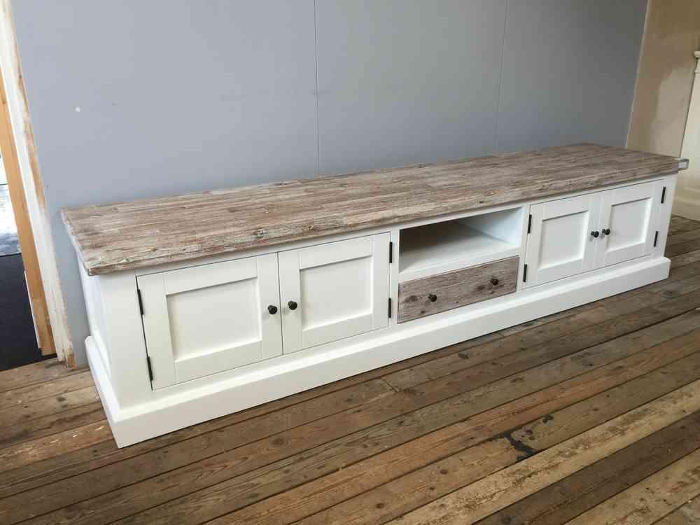 Landelijk tv meubel combi kleur 220 cm VOORRAAD  Ans