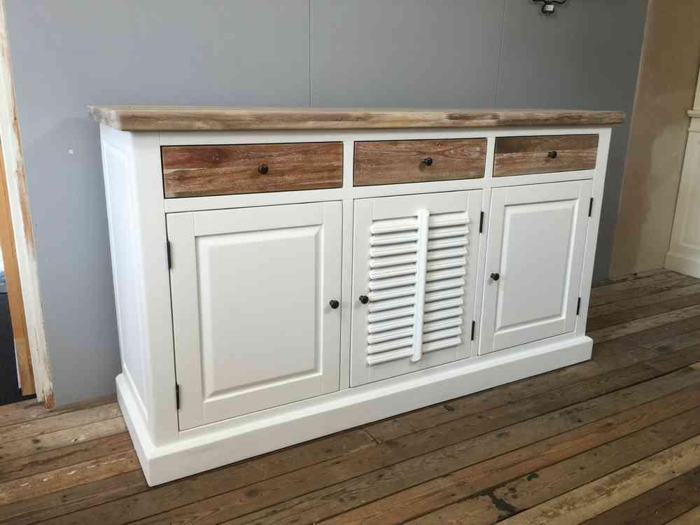 Landelijk dressoir met houten laden AW1005A  Ans Woonshop