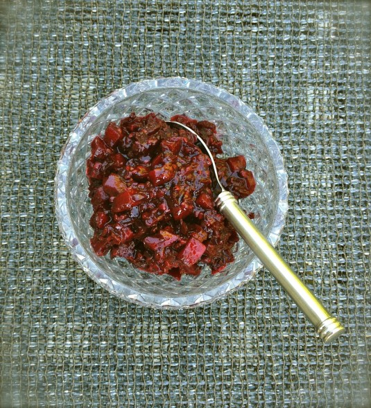 blackberry apple relish