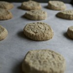 oat cardamom shortbread baking sheet