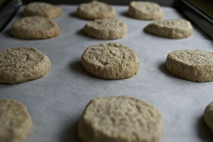 oat cardamom shortbread baking sheet