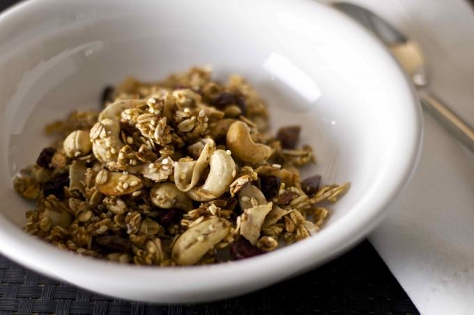 gluten free granola 1 bowl