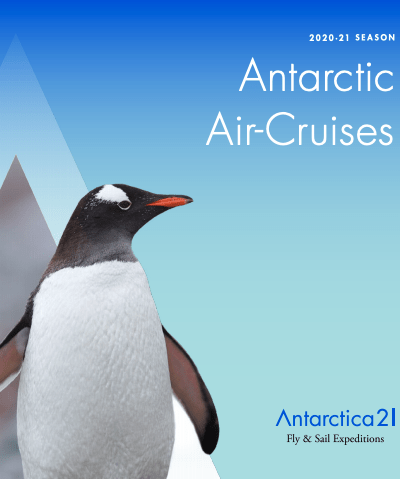 Antarctica21's Air-Cruises 2020-21 - English Brochure cover