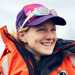 Sarah Merusi, Cruise Manager and Expedition Guide, in Antarctica21's Expedition Team