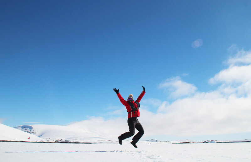 Solo women traveler in Antarctica