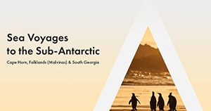 Webinar Cover Sea Voyages to the Sub-Antarctic