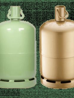 bouteille de gaz propane 13 kg verte ou