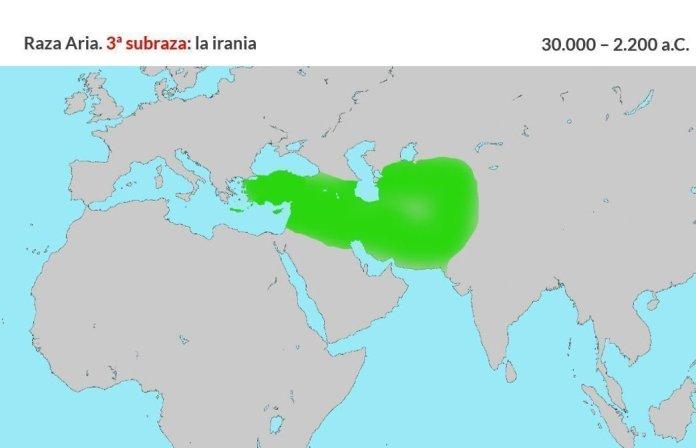 Raza aria. Tercera subraza, irania (3)
