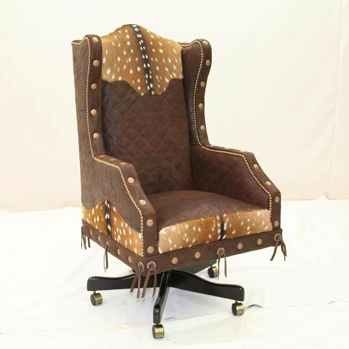 desk chair made hickory company western executive rustic office
