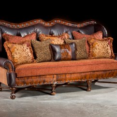 Leather Or Fabric Sofa For Family Room Hornet Air Bed Sleeper Western Rustic Hacienda Large Anteks Home And