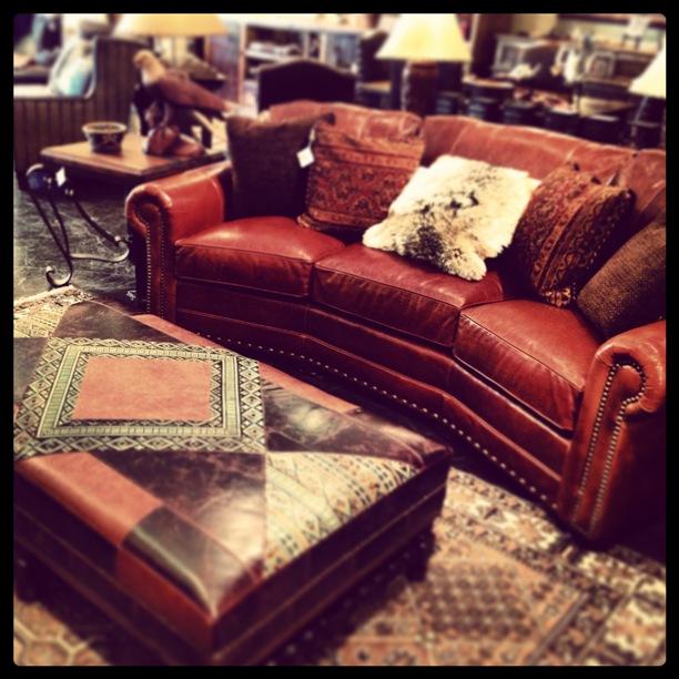 Rustic Leather Sofa  Rustic Sofa Dallas  Western Sofa