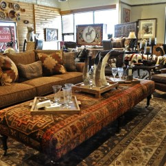 Rustic Leather Living Room Furniture Oil Paintings At Anteks Store In ...