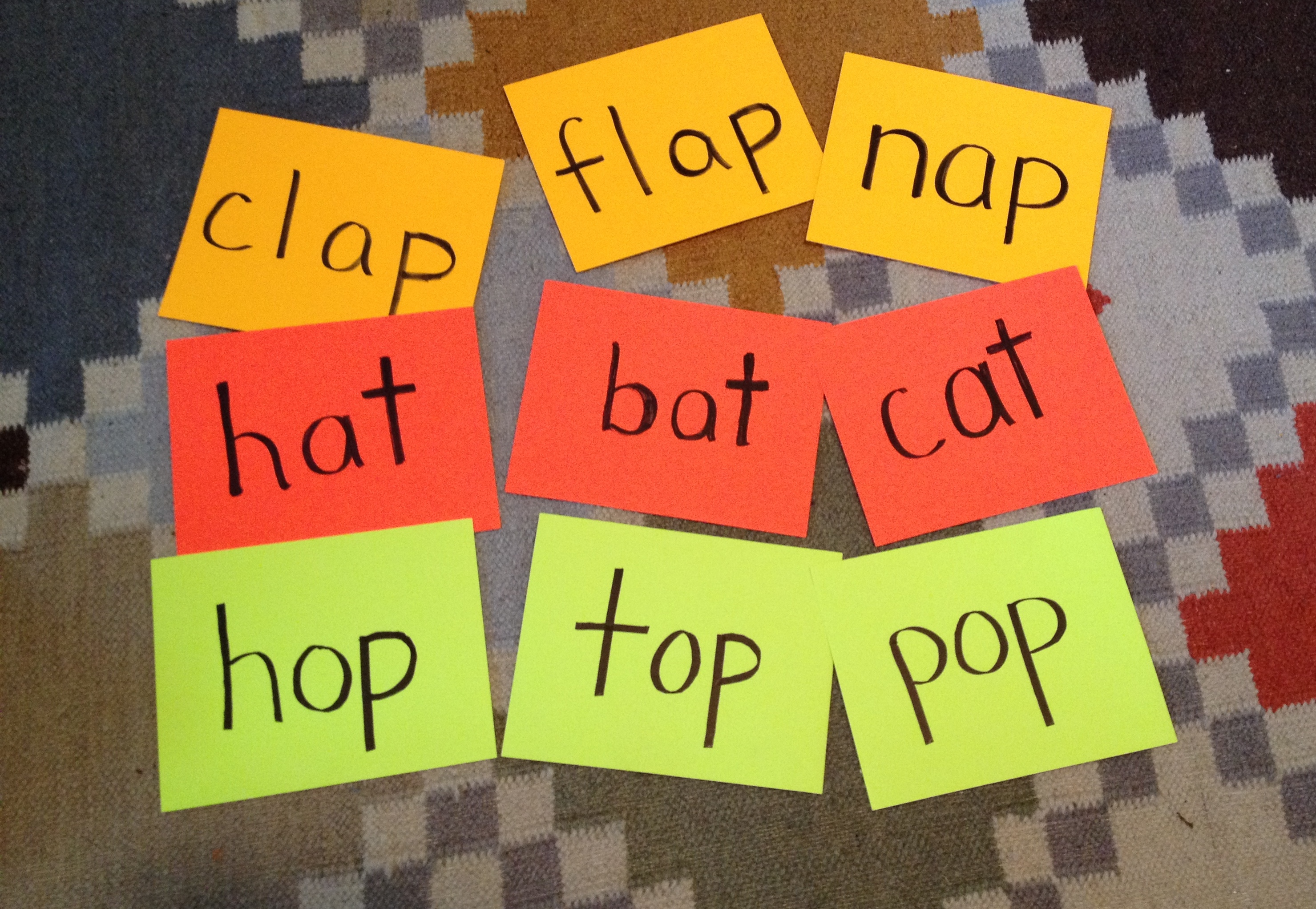 Cat Bat Sat Hat Say A Rhyming Word With That