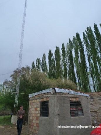 La radio de Paso Cordova, en Roca. Radio comunitaria con contenido local. Foto: Marcelo Miranda