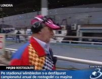Marea Britanie. Campionat de rostogoliri cu maşina, pe stadionul Wimbledon (VIDEO)
