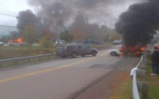 Ciocniri violente între poliţie şi opozanţii gazelor de şist în Canada 768