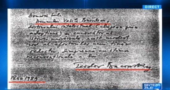 În ziua în care românii mureau pentru libertate, Teodor Baconschi îi aducea elogii unui conducător al Securităţii 407