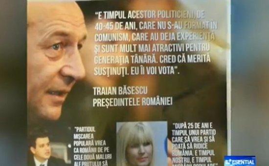 Traian Băsescu apare pe afişele electorale ale PMP 407