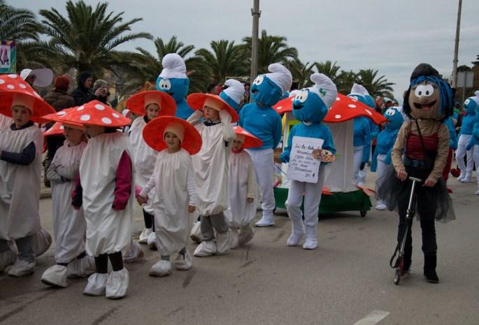 Zadarski karneval, Štrumpfovi (Foto: Žeminea Čotrić / Antena Zadar)
