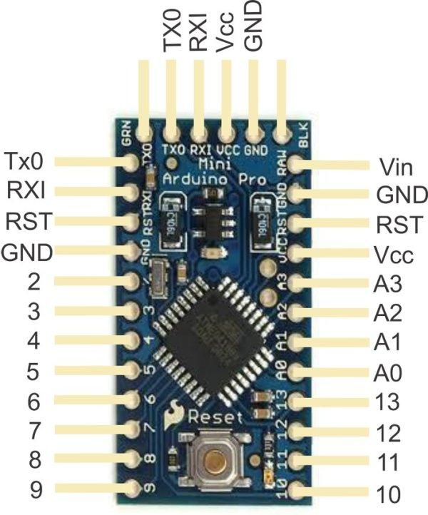 SCHEDA PRO MINI 5V / 16MHz ATMEGA328P ARDUINO COMPATIBILE