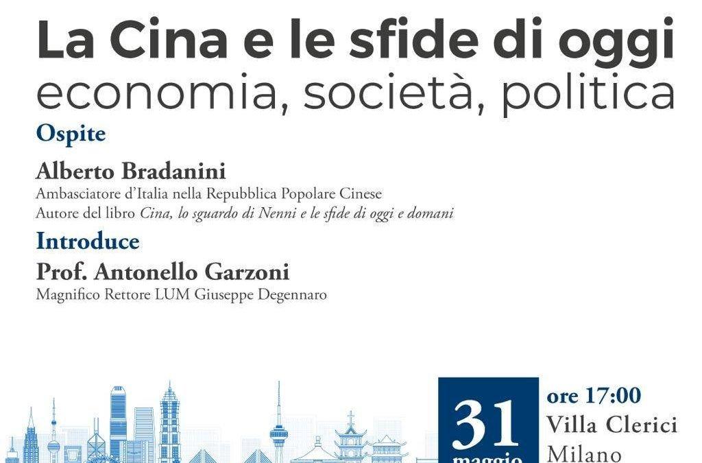 """31 Maggio: Presentazione """"La Cina e le storie di oggi: economia, società, politica""""."""