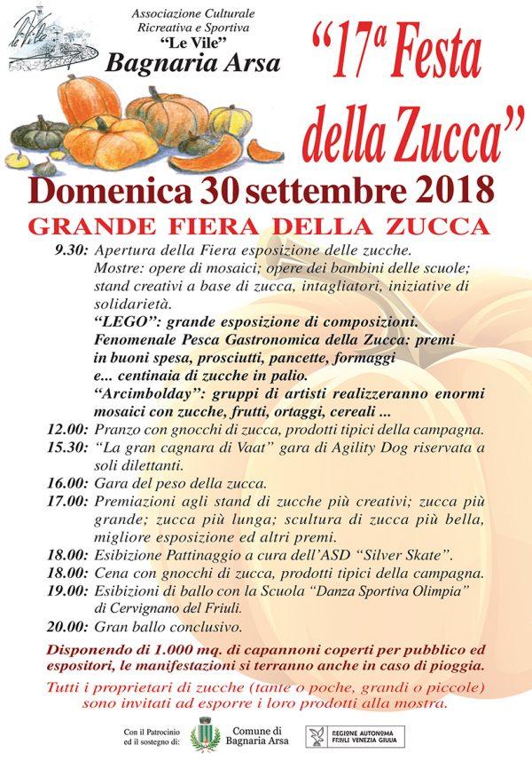 Festa della Zucca 2018 a Bagnaria Arsa