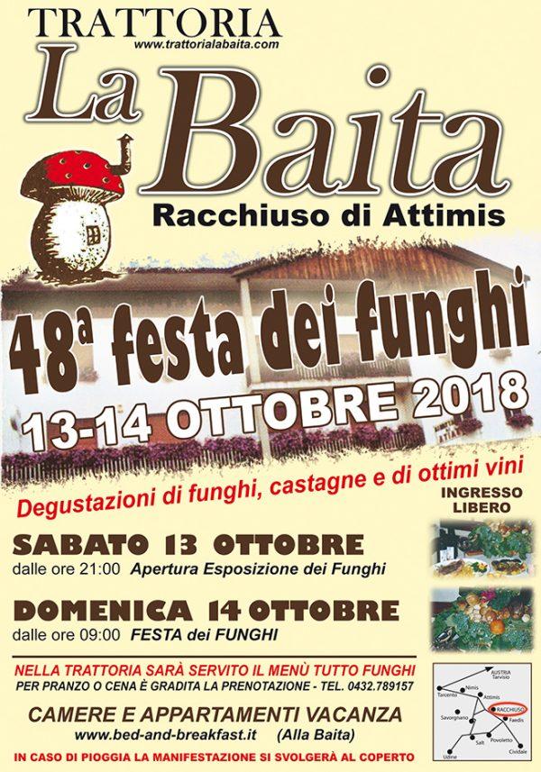 Festa dei Funghi 2018 Trattoria La Baita a Racchiuso