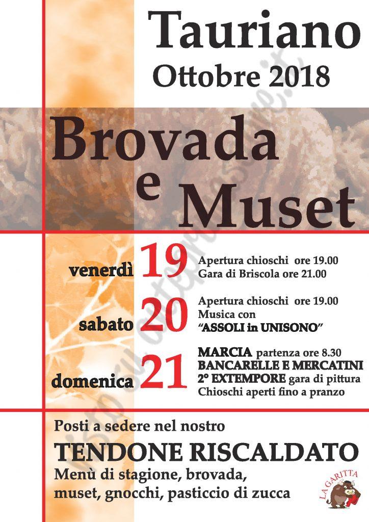 Brovada e Muset 2018 a Tauriano locandina