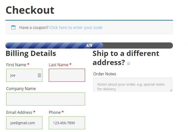 [WooCommerce] Checkout Progress Bar