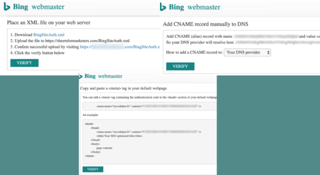 Check Out The 3 Ways To Verify Your Website In Bing WMT