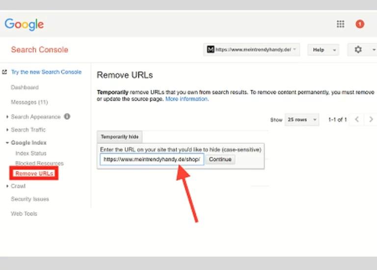 Aprende a eliminar URLs
