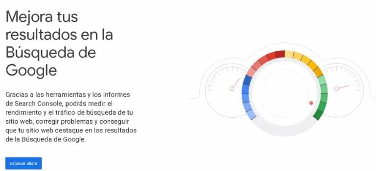 Plataforma Google Search Console