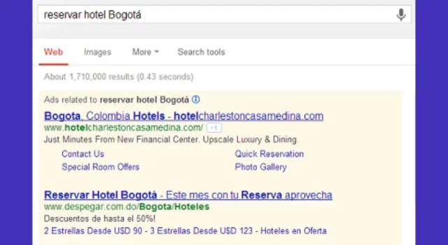 Anuncio Google red de búsqueda