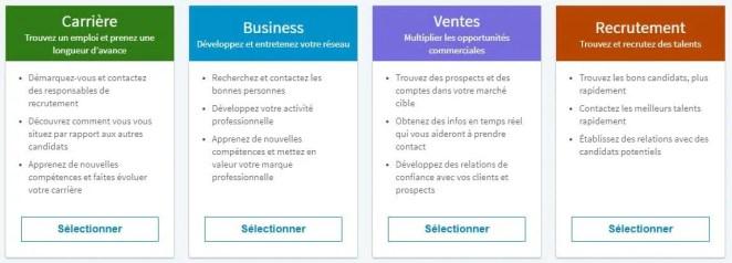 offre LinkedIn pour les pros