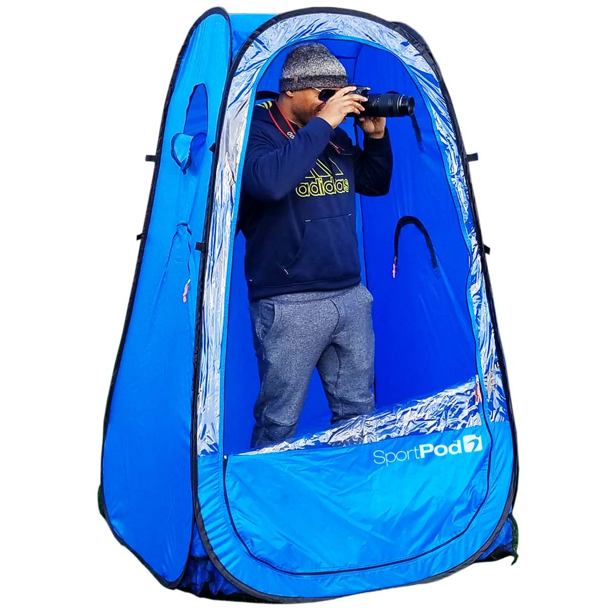 chair under cover teak shower chairs actionpod undercover all weather sportpod pop up tent